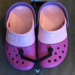 Girls size 10 Crocs